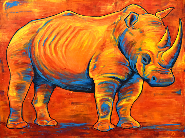 Rhino - 48x36 - Acrylic on Canvas